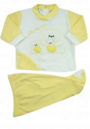 outfit x always my interlock with three bears. Colour yellow, size 3-6 months