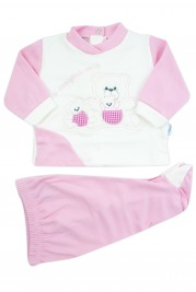 outfit x always my interlock with three bears. Colour pink, size 0-1 month