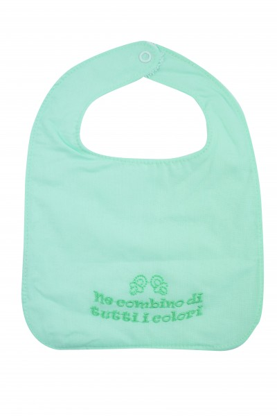 baby bib in 100% cotton. Colour green, one size Green One size