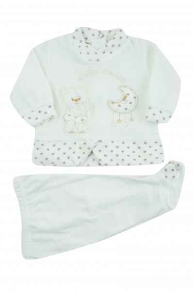 sweet friend chenille baby outfit. Colour creamy white, size 3-6 months
