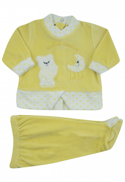 sweet friend chenille baby outfit. Colour yellow, size 0-1 month Yellow Size 0-1 month