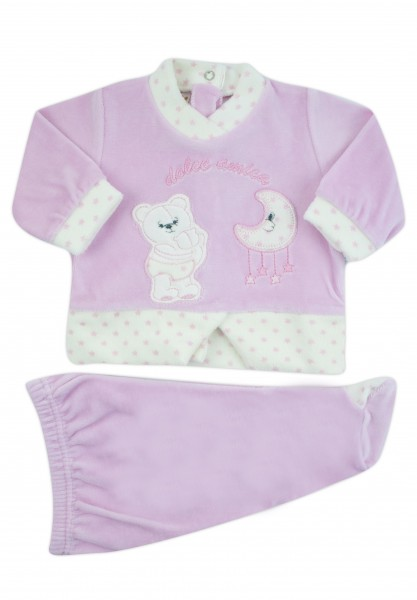 sweet friend chenille baby outfit. Colour pink, size 0-1 month