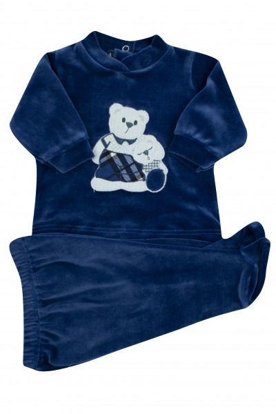 baby outfit chenille hug bears. Colour blue, size 0-1 month Blue Size 0-1 month