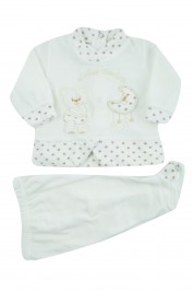 sweet friend chenille baby outfit. Colour creamy white, size 0-1 month