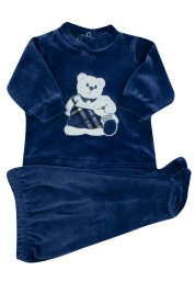baby outfit chenille hug bears. Colour blue, size 0-1 month