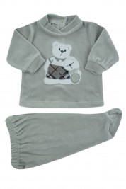 baby outfit chenille hug bears. Colour grey, size 1-3 months