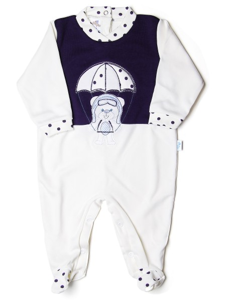 Baby footie baby bear parachutist stripes. Colour creamy white, size 3-6 months Creamy white Size 3-6 months
