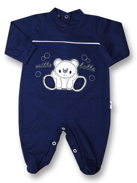 Baby footie thousand bubbles, 100% cotton. Colour blue, size 6-9 months Blue Size 6-9 months