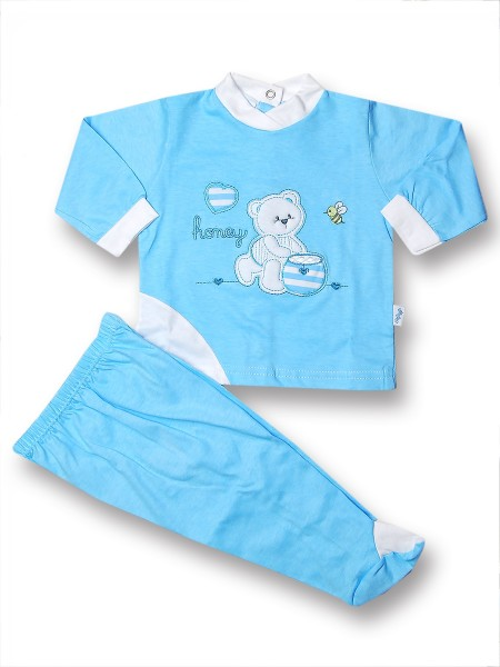 Cotton outfit honey and bee. Colour turquoise, size 1-3 months Turquoise Size 1-3 months
