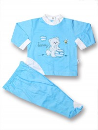 Cotton outfit honey and bee. Colour turquoise, size 0-1 month