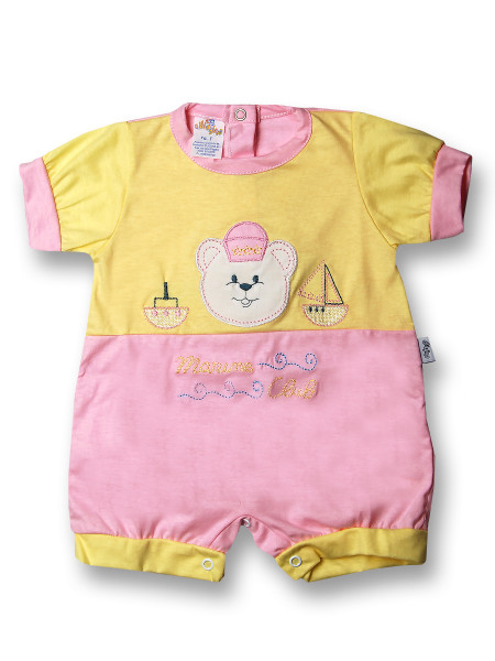 Romper marine club. Colour pink, size 0-1 month
