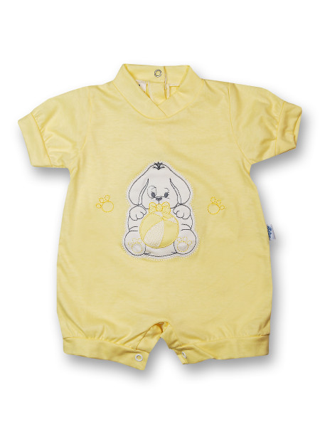 Doggy Romper and 100% cotton ball. Colour yellow, size first days Yellow Size first days