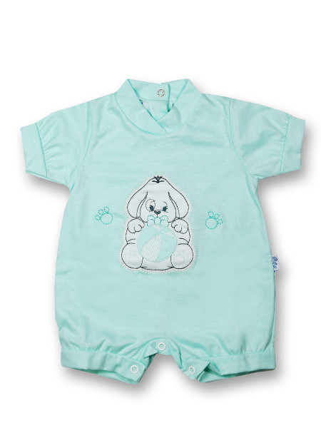 Doggy Romper and 100% cotton ball. Colour green, size first days Green Size first days