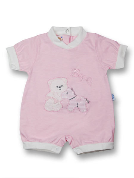 Romper hopla cotton pony. Colour pink, size first days Pink Size first days