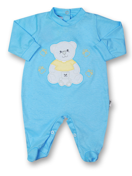 Baby footie mommy and puppy in cotton. Colour turquoise, size 9-12 months Turquoise Size 9-12 months