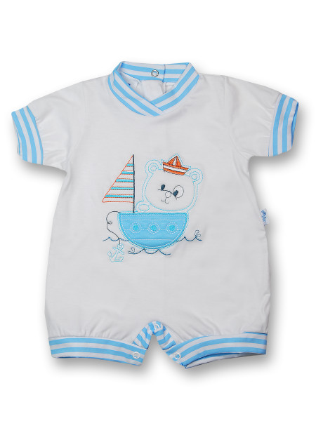 Romper sailboat 100% cotton. Colour turquoise, size first days