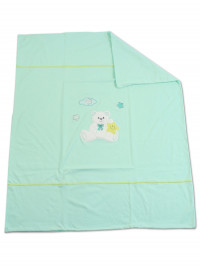 100% cotton baby bear star double face stroller cover. Colour green, one size