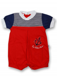 Romper top fashion center. Colour red, size 0-1 month
