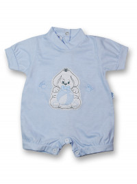 Doggy Romper and 100% cotton ball. Colour light blue, size 0-1 month
