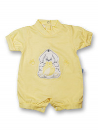 Doggy Romper and 100% cotton ball. Colour yellow, size 0-1 month
