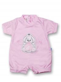 Doggy Romper and 100% cotton ball. Colour pink, size 1-3 months