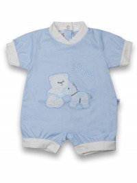Romper hopla cotton pony. Colour light blue, size 0-1 month