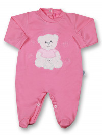 Baby footie mommy and puppy in cotton. Colour fuchsia, size 12 18 months