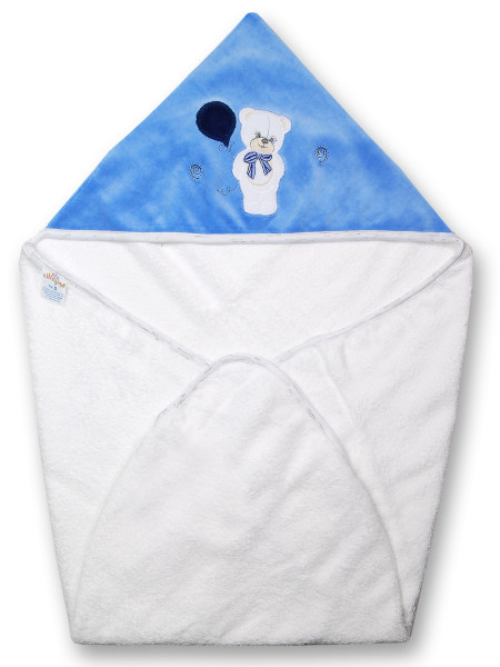 Baby bear triangle bathrobe with balloon. Colour light blue, one size Light blue One size
