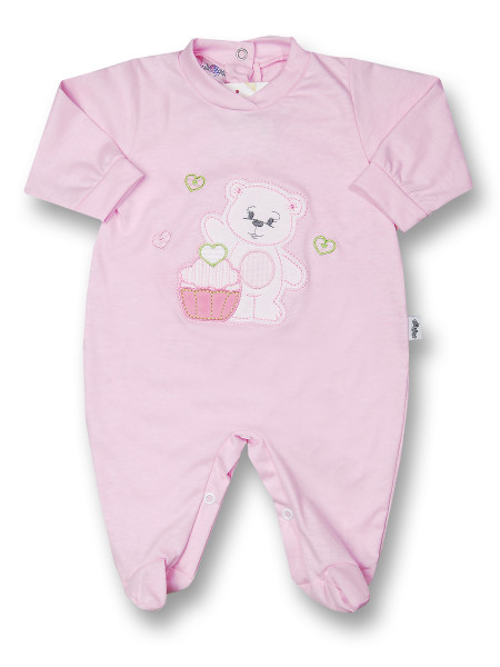 Baby footie cotton pastry. Colour pink, size 6-9 months Pink Size 6-9 months