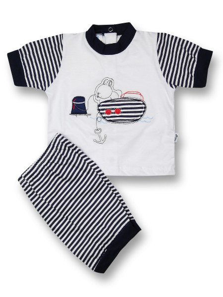 Baby outfit we dock half sleeves. Colour blue, size 1-3 months Blue Size 1-3 months