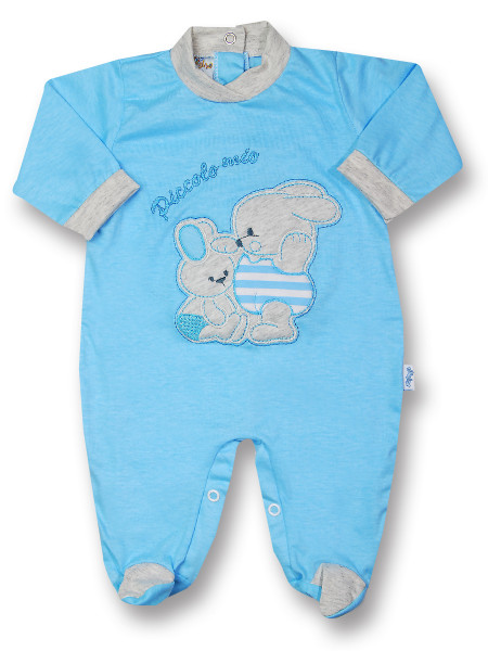 Cotton baby footie My little bunny rabbit. Colour turquoise, size 3-6 months Turquoise Size 3-6 months