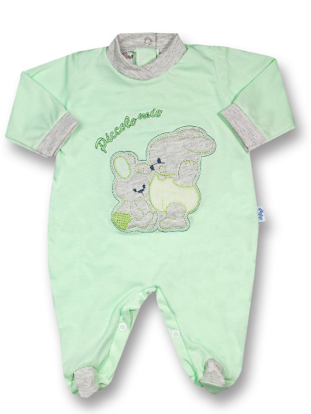 Cotton baby footie My little bunny rabbit. Colour pistacchio green, size first days Pistacchio green Size first days