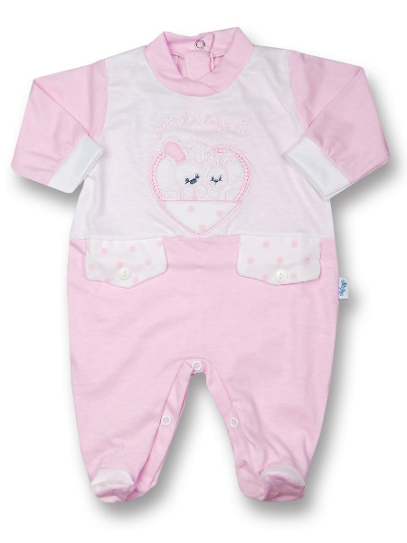 Baby footie cotton jersey little secrets. Colour pink, size first days Pink Size first days