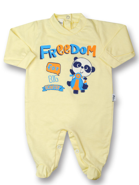 Baby footie baby freedom in cotton, color. Colour yellow, size 6-9 months Yellow Size 6-9 months