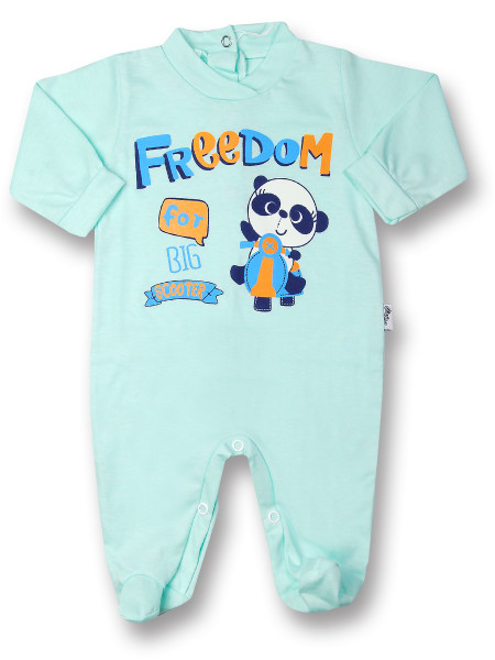 Baby footie baby freedom in cotton, color. Colour green, size 6-9 months Green Size 6-9 months