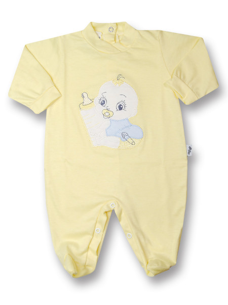 Baby Footie Baby: I'll get the baby bottle. Colour yellow, size 3-6 months Yellow Size 3-6 months