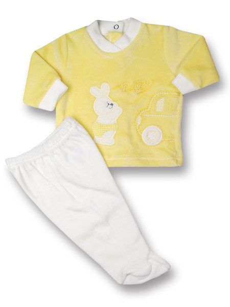 Baby outfit 2 pcs Baby rabbit & car. Colour yellow, size 1-3 months Yellow Size 1-3 months