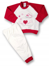 Baby outfit kitten love. Colour black cherry, size 3-6 months