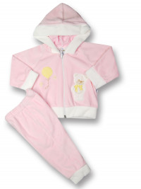 Outfit 2 pieces chenille bear balloon. Colour pink, size 3-6 months