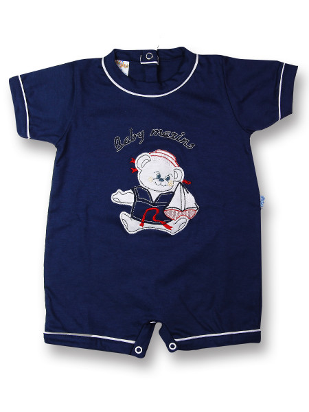baby footie romper baby marins sailing. Colour blue, size 3-6 months Blue Size 3-6 months