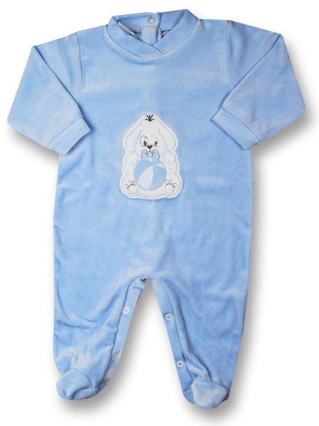 Baby footie doggie with ball. Colour light blue, size 1-3 months Light blue Size 1-3 months