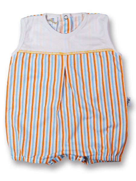 romper cotton colored stripes. Colour orange, size 1-3 months Orange Size 1-3 months