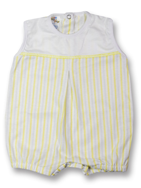 romper cotton colored stripes. Colour yellow, size 1-3 months Yellow Size 1-3 months