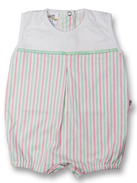 romper cotton colored stripes. Colour green, size 1-3 months Green Size 1-3 months