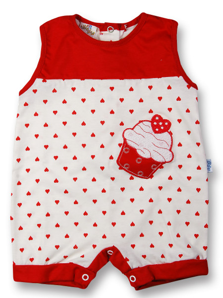 romper cotton ice cream and strawberry. Colour red, size 3-6 months Red Size 3-6 months