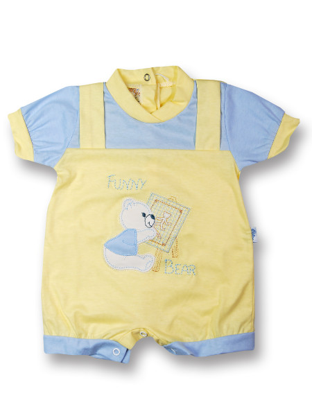 romper baby bear cotton painter. Colour light blue, size 0-1 month