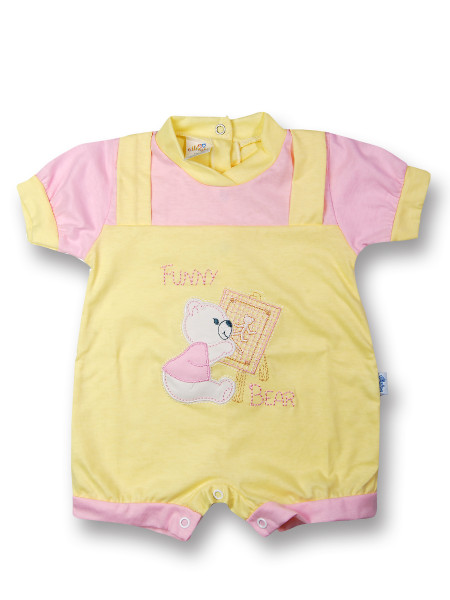 romper baby bear cotton painter. Colour pink, size 1-3 months Pink Size 1-3 months
