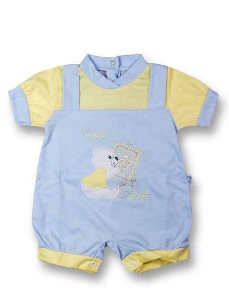 romper baby bear cotton painter. Colour light blue, size 1-3 months Light blue Size 1-3 months