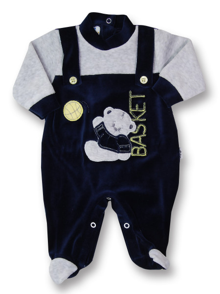 baby footie basketball with suspenders. Colour blue, size first days Blue Size first days