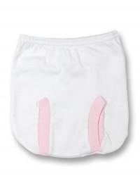 anatomical cotton panties. Colour pink, size 1-3 months